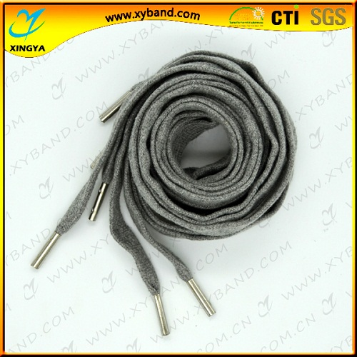 Flat Dress Elastic Charming Shoelaces With Metal Clip Shoelace