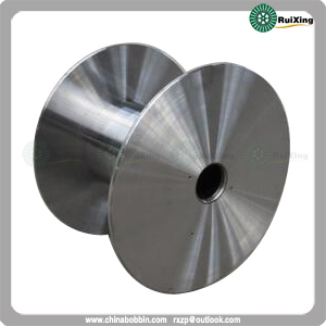Flat Plate Type Steel Reel For High Speed Machine With Solid Flanges Turned All Over