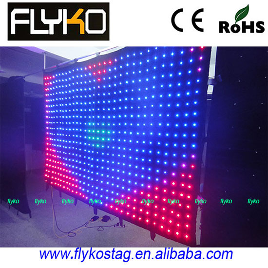 Flexible Led Video Curtain Display