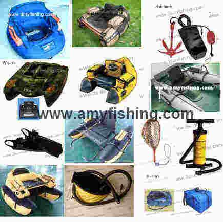 Float Tube Rubber Net Jabo Remote Control Bait Boat Fising Anchors Fins Flippers Pumps Life Vest Bag
