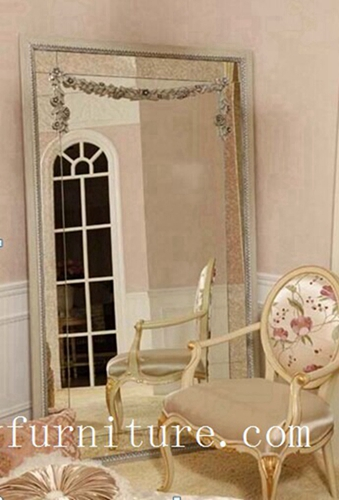 Floor Mirror Wooden Frame Decorative Stand Bedroom Fg 102