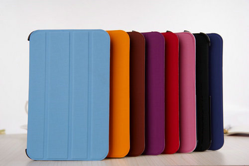Folio And Standing Case For Samsung Tab3 P3100 With Card Slot