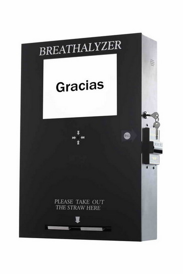 For Brazil Bill Vending Breathalyzer With Lcd Tv 65288 Fuel Cell Sensor 65289