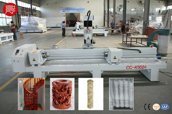 Four Axis Rotary Cnc Router For Cylinder Wood Cc K5024