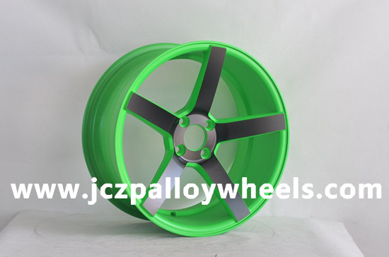 Fresh Green Machined Face Car Wheels 17x8 0