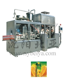 Fresh Juice Flavoured Gable Top Slice Carton Filling Machine Bw 2500b