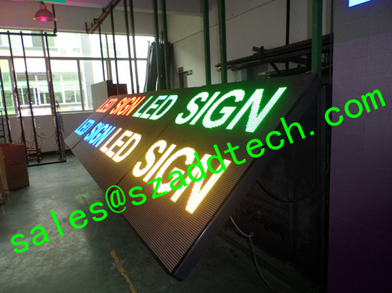 Front Open Door Led Display Sign For Usa Market