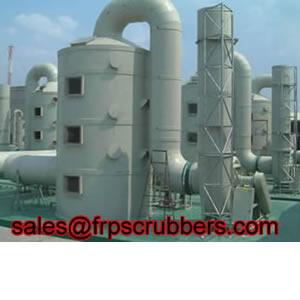 Frp Nitrogen Oxide Scrubber