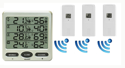 Ft0073 Wireless 8 Channel Multi Thermo Hygrometer