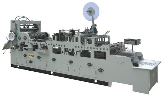 Full Automatic Chinese Envelope Forming Flap Tape Gumming Machine