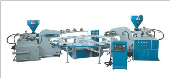 Full Automatic Type Of Double Color Plastic Shoes Injection Moulding Machine