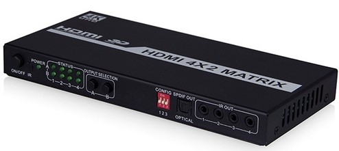 Full Hdmi 1 4 4x2 Video Matrix With Arc Function Hlhm0402a