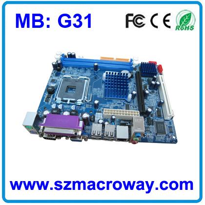 Full New Oem Motherboard G31 From Macroway