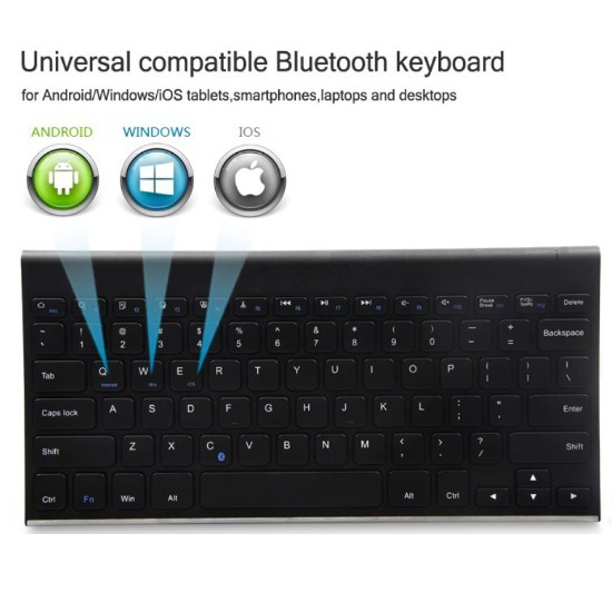 Full Size Universal System Wireless Bluetooth Keyboard Hb086