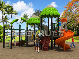 Funny Outdoor Playground Equipment Slide For Kids Fy00701