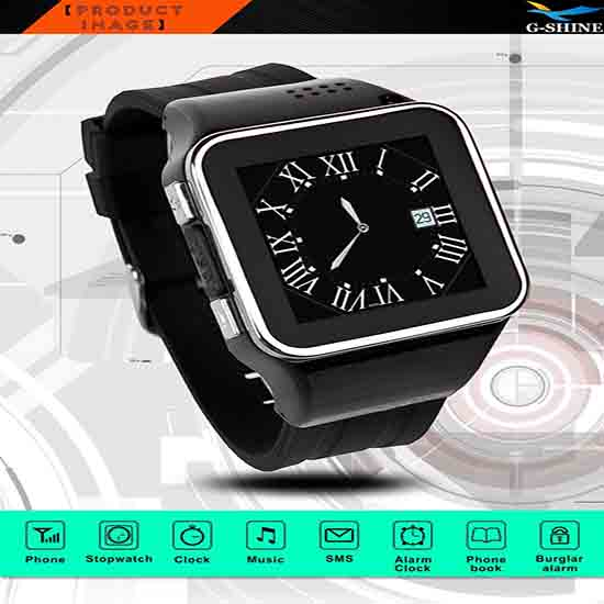 G Shine 2014 Watch Phone Water Resistant Wristwatch For Android Ios Smartphone S2