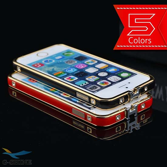 G Shine Cell Phone Cases Gold Edge Case 5 Colors For Iphone 4