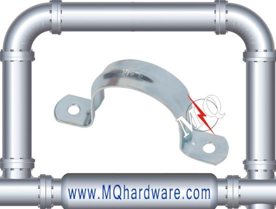 Galvanized Steel Two Hole Mount Wall Pipe Clamp