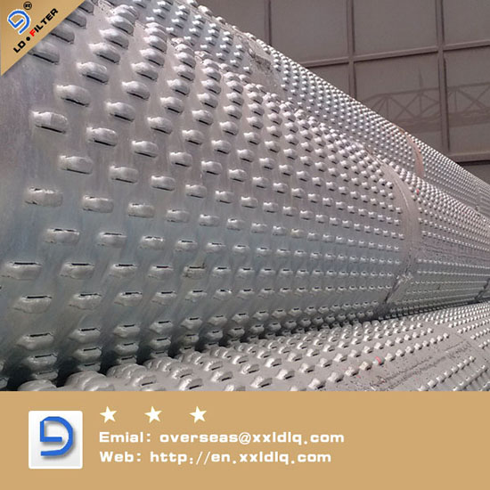 Galvanized Wedge Wire Casing Screen For Oil Well
