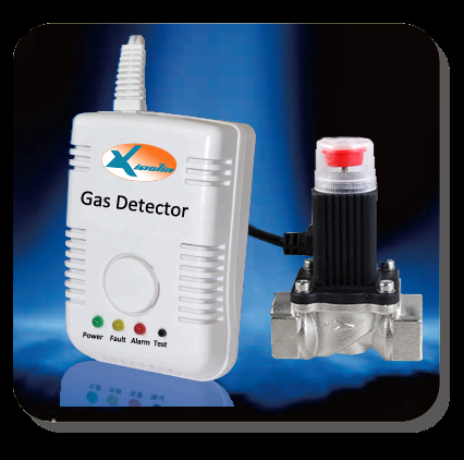 Gas Detector With Automatic Shut Off Valve For Appliance