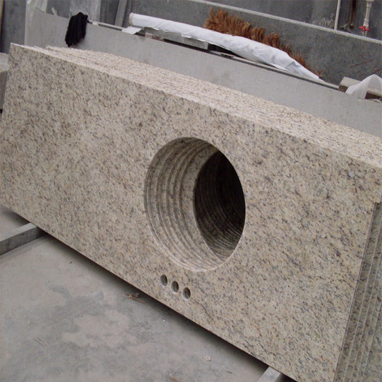 Giallo Ornamental Granite Vanity Top