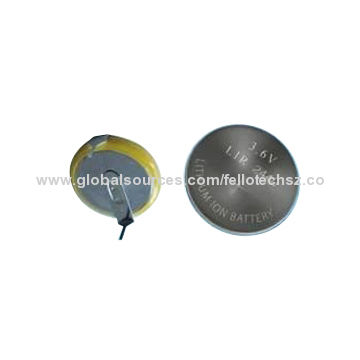 Gift Toy Battery 3 6v Lir2440 Button Cell Rechargeable Li Ion Coin Batteries Can Add Solder Tab