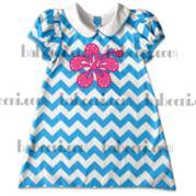 Girls Aline Flower Appliqued Dress