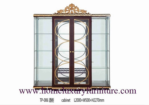 Glass Cabinet Antique China Modern Wooden Decorate Tp 006