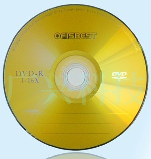 Gold Printed Blank Dvd R 4 7gb Up To 16x 120min Playing Time Silver Shiny With Purple Color