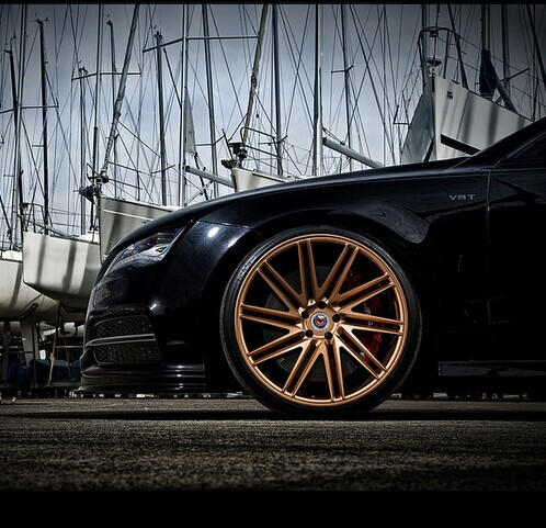 Gold Vossen Car Alloy Wheels