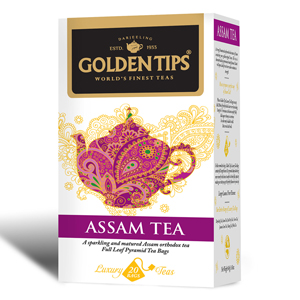 Golden Tips Assam Tea 20 Full Leaf Pyramid Bags