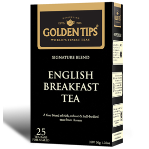 Golden Tips English Breakfast 25 Tea Bags