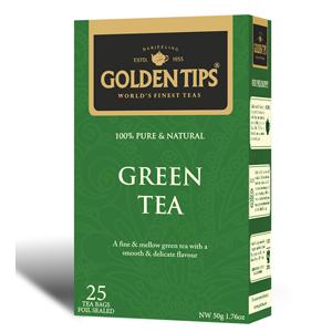 Golden Tips Green 25 Tea Bags
