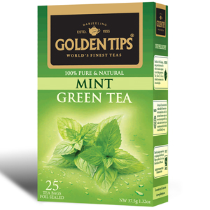 Golden Tips Mint Green 25 Tea Bags