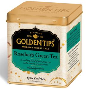 Golden Tips Rose Herb Green Full Leaf Tea