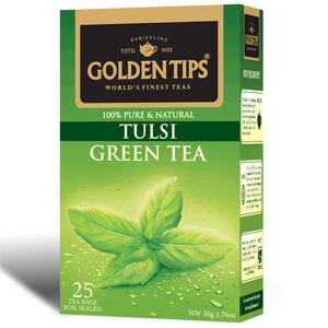 Golden Tips Tulsi Green 25 Tea Bags