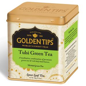 Golden Tips Tulsi Green Full Leaf Tea