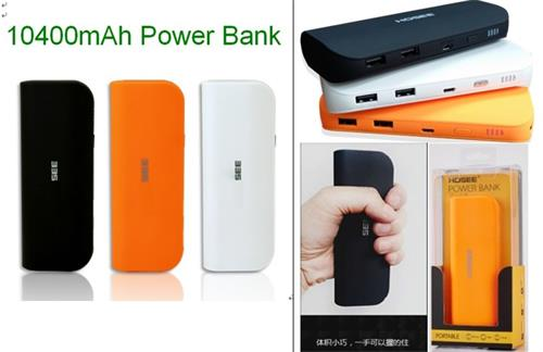Good Quality Gifts Power Station Mobile Phone Charger 10400mah 2 Usb Bank