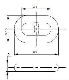 Grade U1 U2 U3 Marine Studlink Anchor Chain