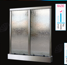 Grandiose Oem Garden Decorating In Glass Water Fountain Room Divider