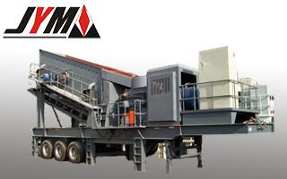 Graphite Wheeled Mobile Crushing Plant Station Crusher