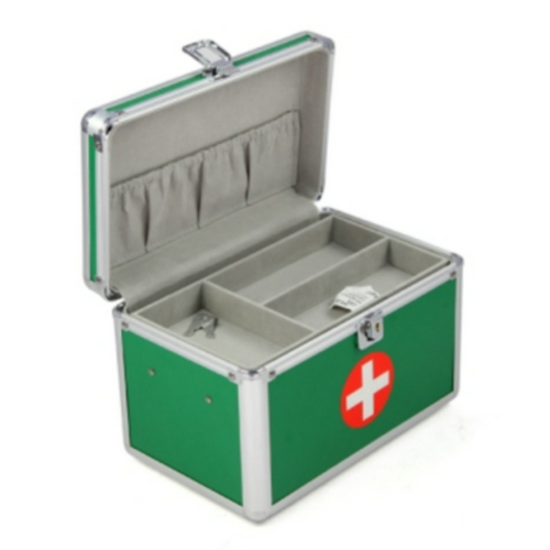 Green Aluminum First Aid Kit