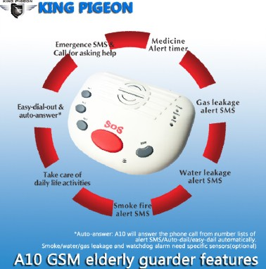 Gsm Wireless Home Alarm System A10 Elderly Guarder Child Monitoring Disabled Help Unit Medical Alert