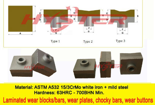 Hammer Tips And Knife Edges 63hrc For Sugar Mill
