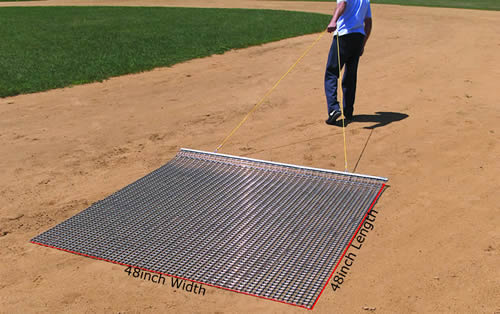 Hand Drag Mat Makes Ground And Lawn Maintenance Easier