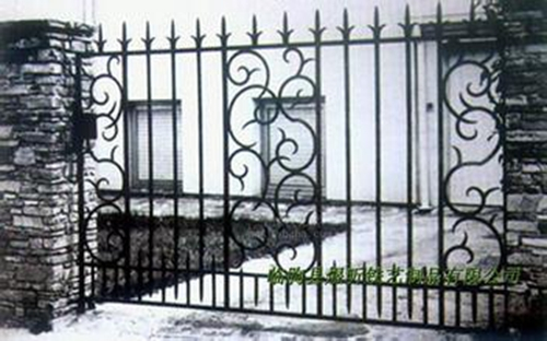 Hand Made Wrought Iron Fence