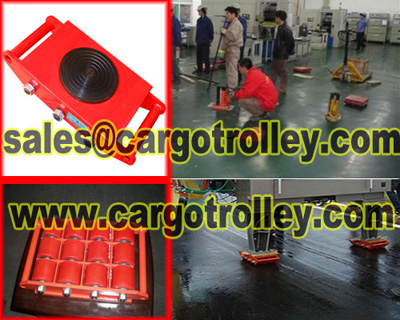 Hand Moving Trolley Heavy Duty Equipment Safety And Easily