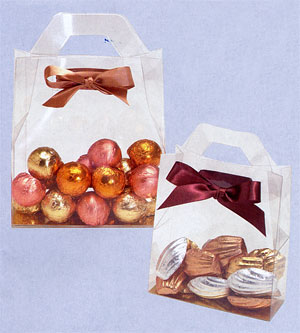 Handled Tote Box For Candy Or Chocolate