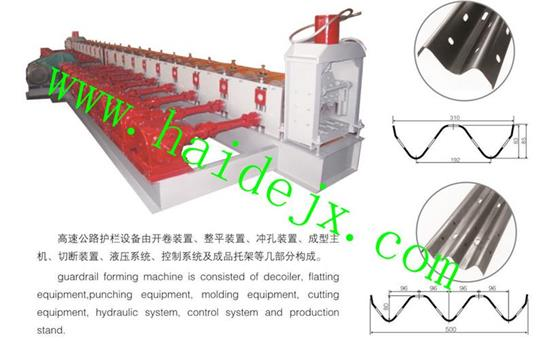 Hd Forming Equipment For Freeway Guardrail Board