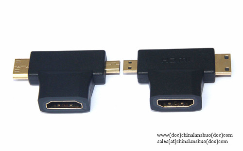Hdmi Female To Mini Male And Micro Adapter